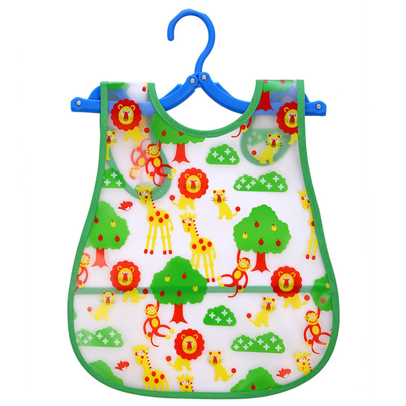 Adjustable Baby Bibs EVA Plastic Waterproof Lunch Feeding Bibs Baby Cartoon Feeding Cloth Children Baby Apron Babador de bebe (31)