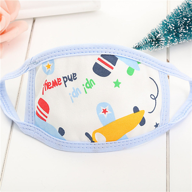 Children Cotton Breathable Breathing Masks Baby Cartoon Breathing Masks Face Mask Respirator Baby Bibs