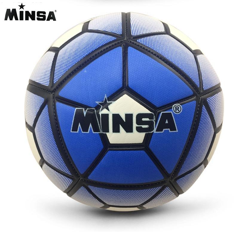 High Quality 2017 MINSA Official Standard Soccer Ball Size 5 Training Futebol ballon de Football Balls  futbol Match Voetbal Bal soccer balls size 4
