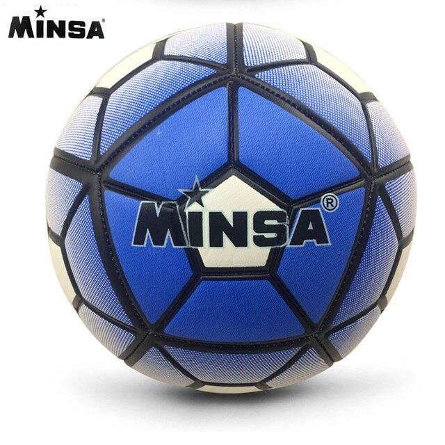 2017 MINSA Official Standard Soccer Ball Size 5 Training Futebol  Football Ball  futbol Match Voetbal Bal