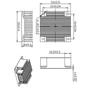 Image 5 - 2 قطعة 50x50x18 مللي متر الكمبيوتر الأسود مبادل حراري من الألومنيوم بالوعة الحرارة المبرد ل رقاقة الكترونية LED رام مسند تبريد للاب توب مدمج به مكبر صوت ملحق YL 0005