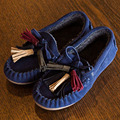 2017 Winter Plush Lining kids Casual Shoes Tassel Infant Moccasins Slip On Toddlers Creepers Children's Flats Shoes