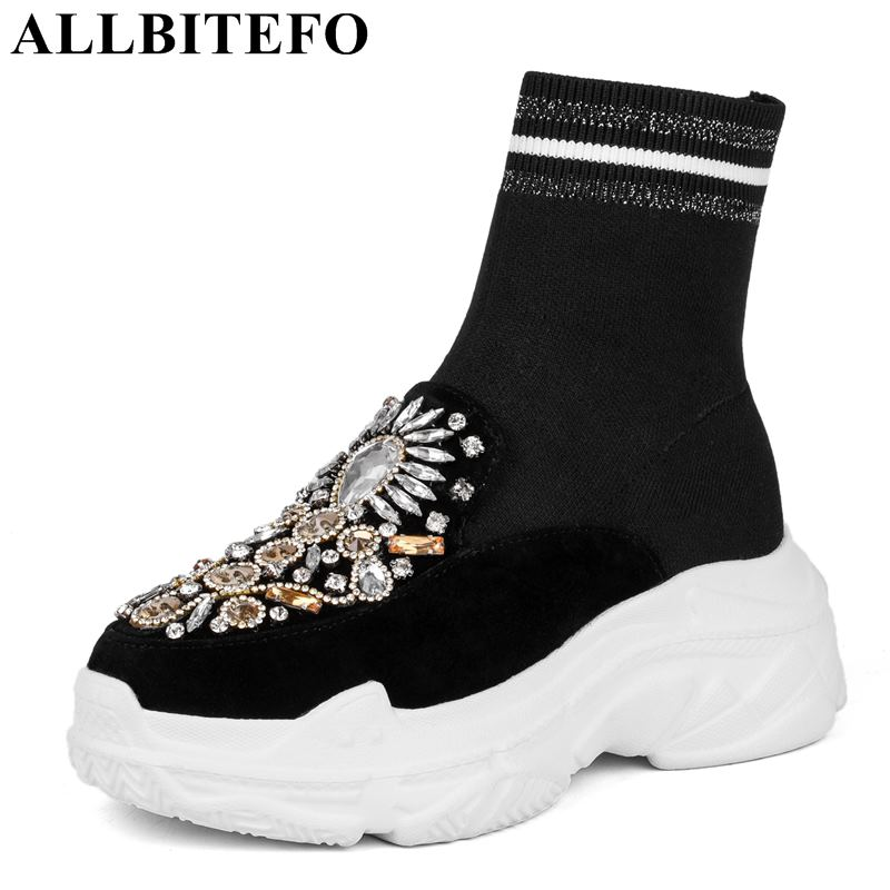 ALLBITEFO natural genuine leather women ankle boots rhinestone design fashion platform boots shoes girls sexy motorcycle boots allbitefo natural genuine leather snake texture cow leather women ankle boots fashion sexy motorcycle boots girls winter shoes