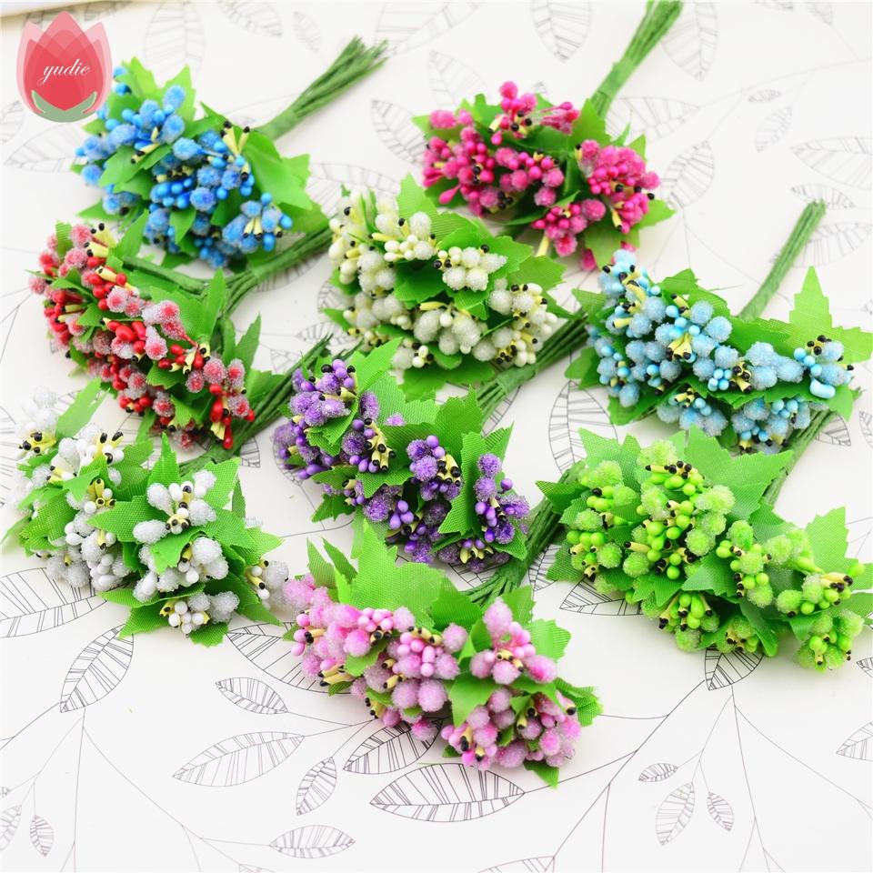 unids hermosa pistilo estambres ramo de flores para la boda regalo de la decoracin