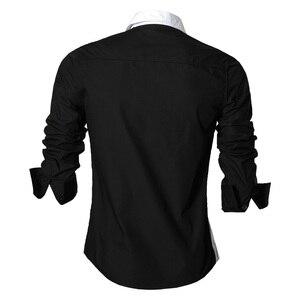 Image 2 - Jeansian chemises pour hommes, caractéristiques, printemps automne, décontracté chemise à manches longues, Slim Fit, fermeture éclair, décoration (sans poches) Z018