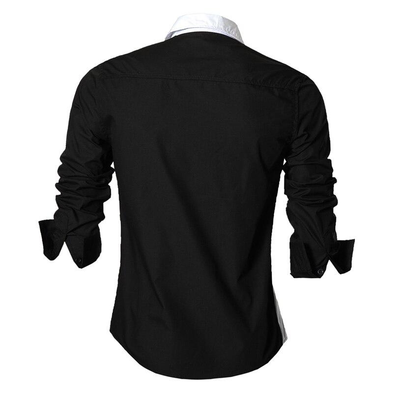 Image 2 - jeansian Spring Autumn Features Shirts Men Casual Shirt Long  Sleeve Slim Fit Male Shirts Zipper Decoration (No Pockets) Z018male  shirtshirt men casualshirt men