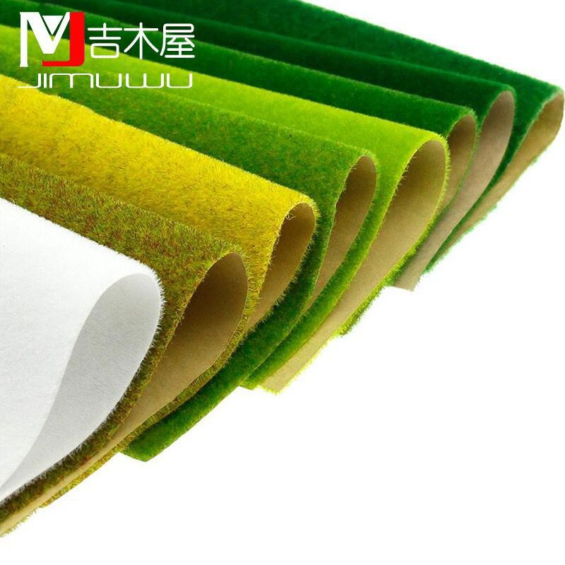 25x25cm 50x50cm 50x100cm  Landscape Grass Mat For Model Train Adhesive Paper Scenery Layout Lawn Diorama Accessories