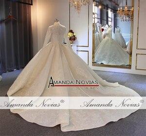 Image 4 - 2020 Muslim wedding dress with long sleeves full lining bridal dress