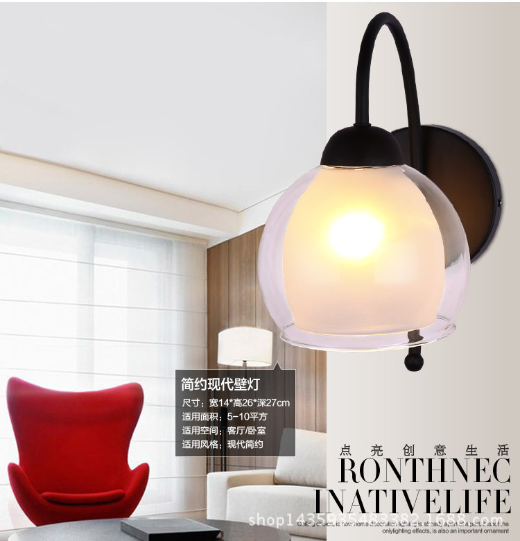 ФОТО vintage retro glass led wall lamp for bedroom bedside living room decoration  Wall Led Light A267