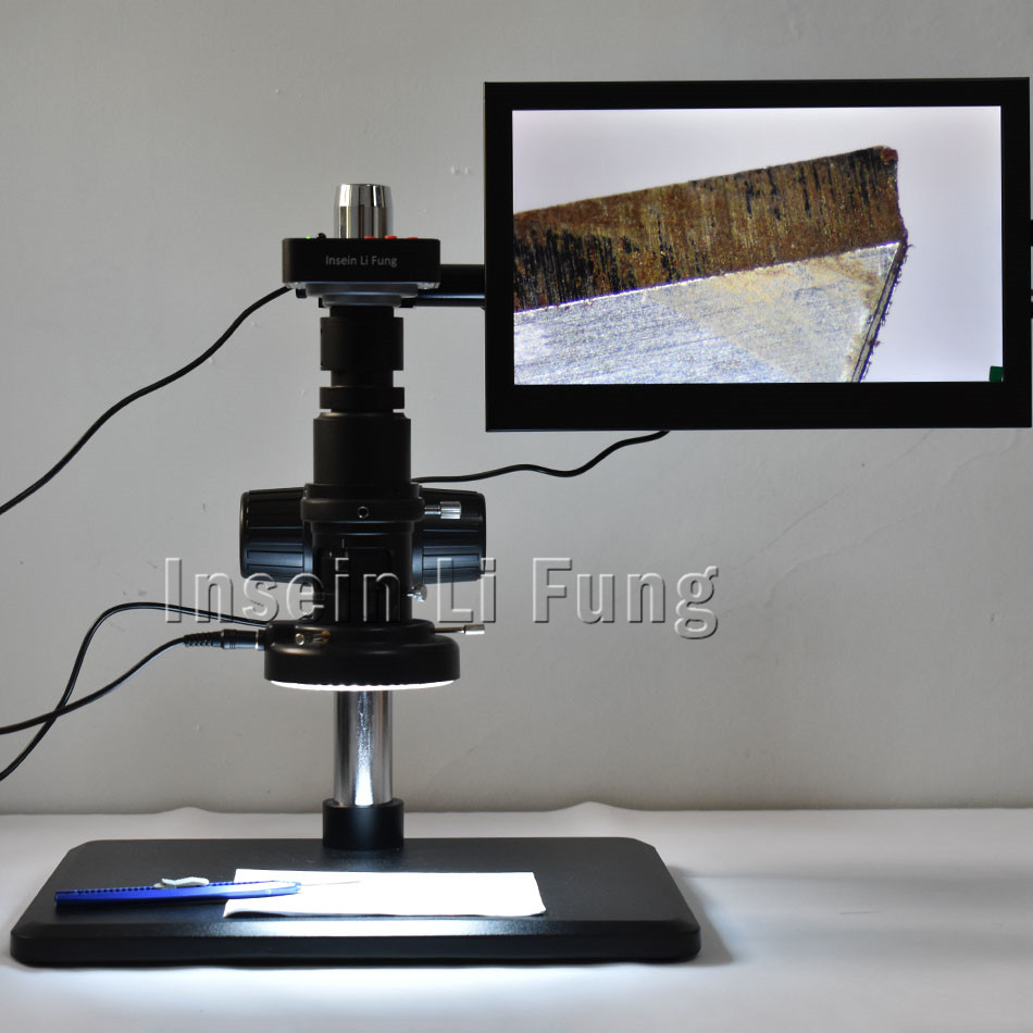 Full HD 38MP 1080P 2K 60FPS HDMI USB Electronic Video Microscope Camera 20X 180X Full Focus