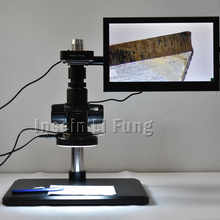 Full HD 38MP 1080P 2K 60FPS HDMI USB Electronic Video Microscope Camera+20X-180X Full Focus Zoom C-Mount Lens+LED Light+Bracket - DISCOUNT ITEM  10% OFF Tools