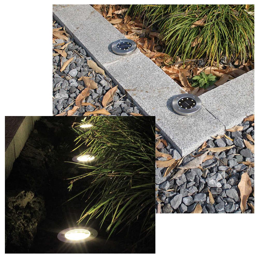 LED газон, сад, свет лампы Водонепроницаемый солнечные Tuinverlichting подземный путь солнечного света наружного освещения украшения