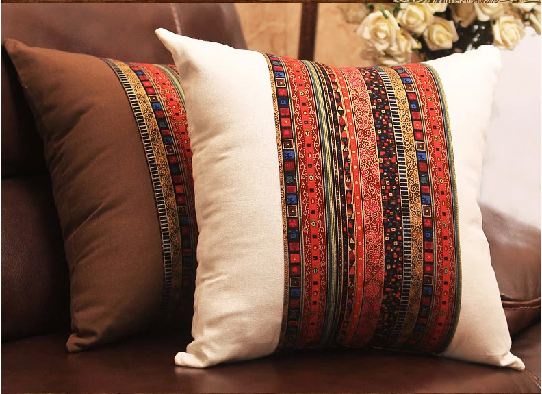 Linencotton Southeast Asian Style Thick Cushion Cover 40X40cm For Fascinating Asian Pillow Covers