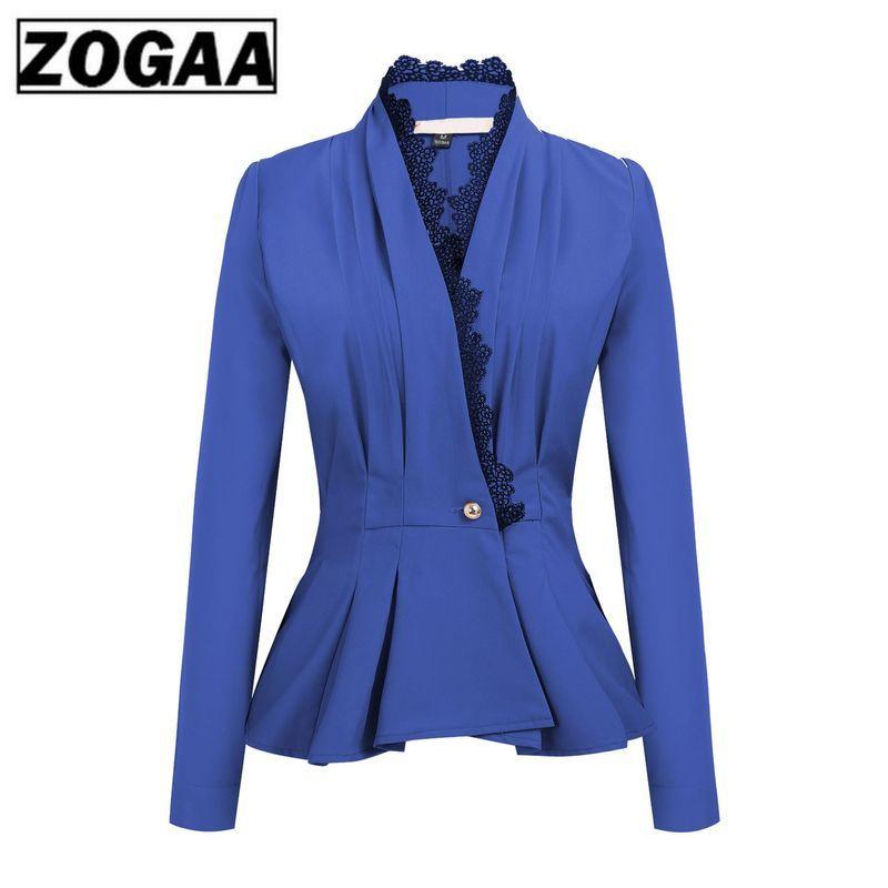 2019 Autumn Women's Coat Lace V Collar Waist Casual Suit