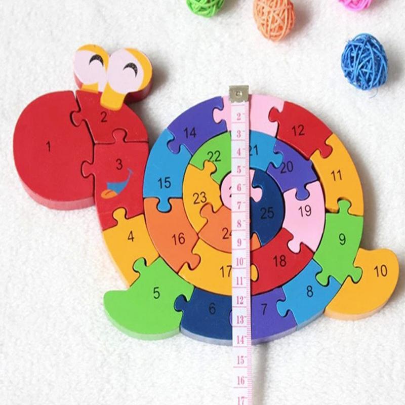 Дети животных деревянные головоломки детей раннего обучающая Улитка слон динозавров Краб корова Форма игрушки головоломки