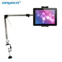 Xnyocn 360 Degree Flexible Arm Tablet Pad Holder Stand Long Lazy People Bed Desktop Tablet Mount for Ipad Mini Ipad 234 Iphone 7