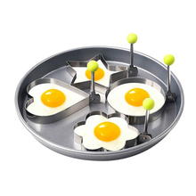 4pcs/set Stainless Steel Omelette Egg Frying Mold Love Flower Round Star Molds Tools Kitchen Cooking