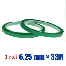 5roll * 6.25mm * 33M Green PET Tape Hi-Temp PCB Solder Mask