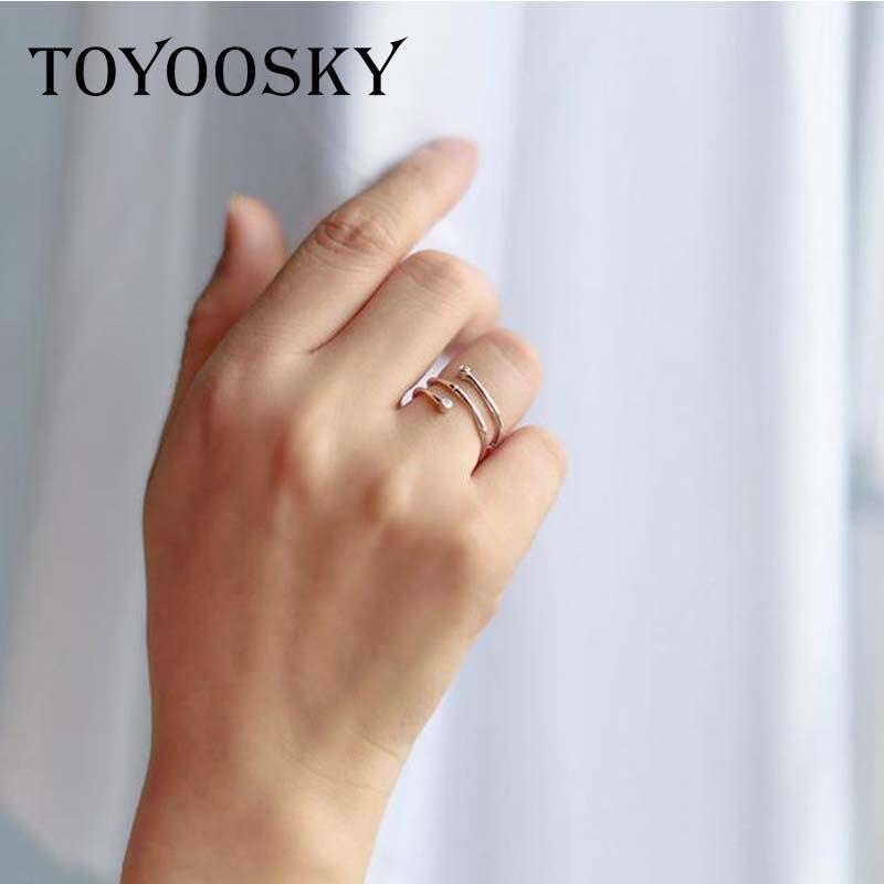 TOYOOSKY 925 ստերլինգ արծաթյա մատանի - Նորաձև զարդեր - Լուսանկար 2