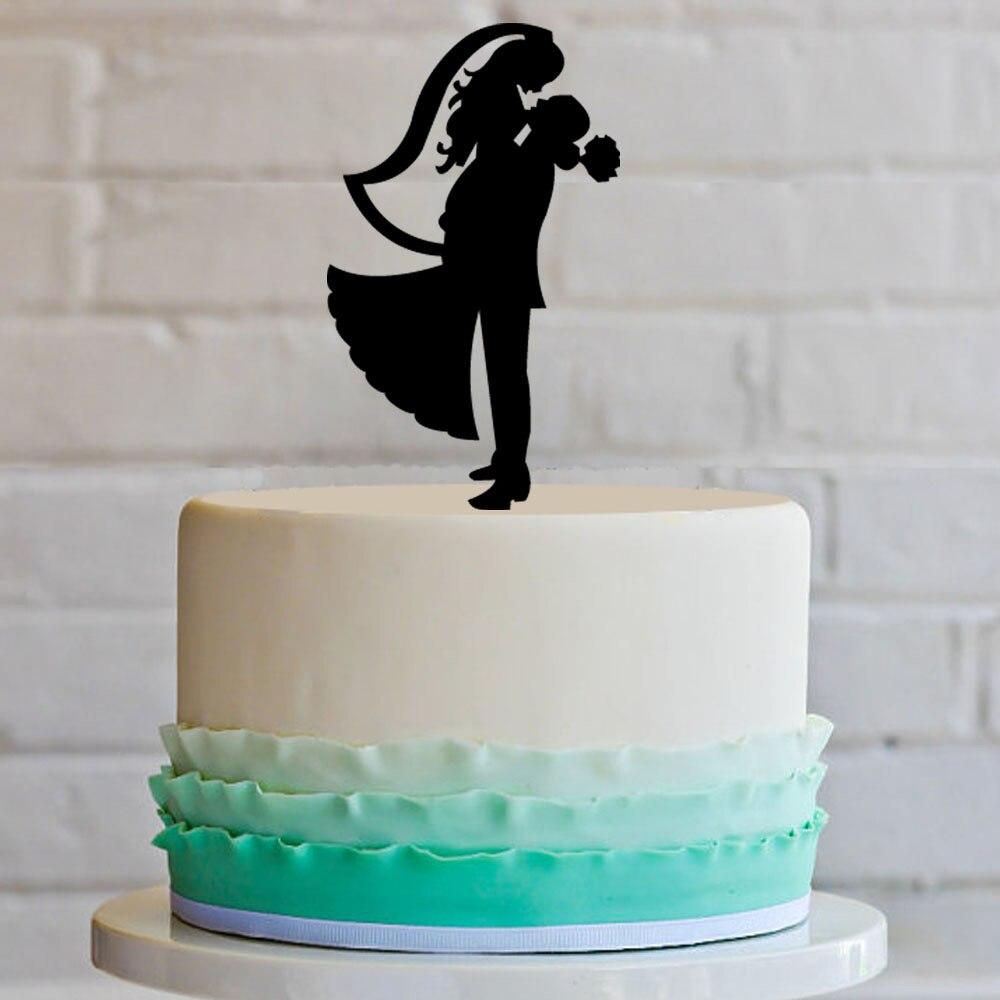 2016 Black Laser Cut Wedding Decoration Funny Wedding Cake Toppers ...