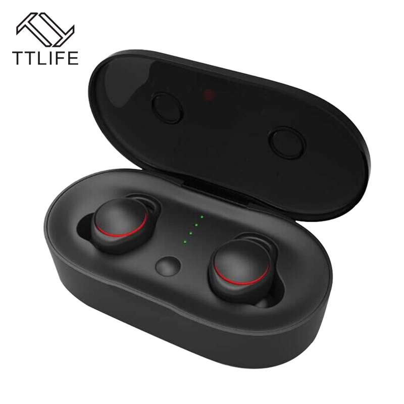 TTLIFE Mini Bluetooth Earphone Sport Stereo Music Bass Noise Cancelling with Mic Earbuds For AirPods Xiaomi Android Smartphone 2017 ttlife mini wireless earphone bluetooth headsets airpods with mic 2 in 1 with car charger for iphone 7 xiaomi mobile phones