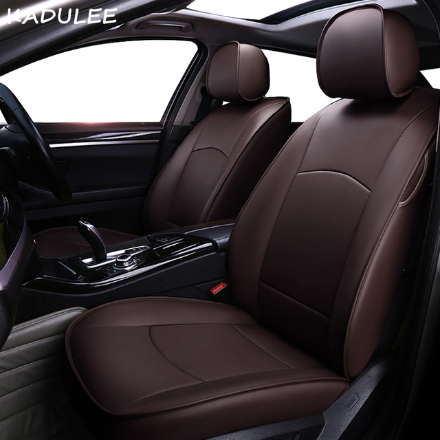KADULEE Real Leather Car Seat Cover For Tesla MODEL X Automobiles Covers Auto Accessories