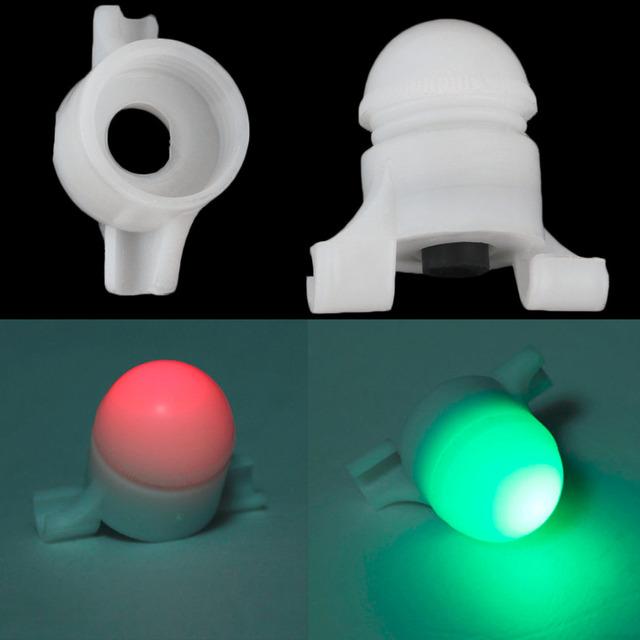 2 in 1 LED Night Fishing Rod Tip Clip on Fish Strike Bite Alert Alarm Light free shipping