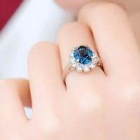 Women's wedding The new Qinglanbingshui ring Mu Xia female fashion female Crystal Ring South Korea accessories