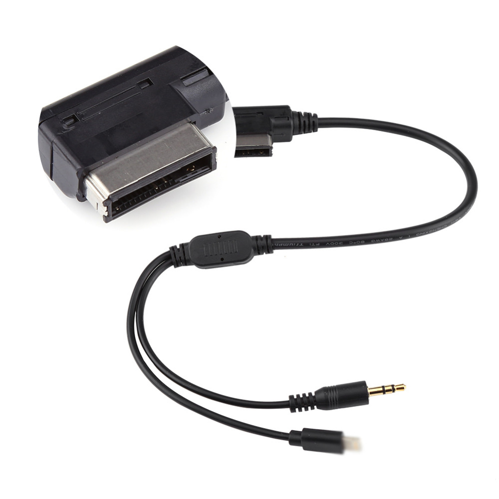 Auto Car Ami Mdi Mmi 3 5mm Mp3 Auxiliary Adapter Cable For Ipod Iphone 5 6 For Audi A3 A8 Q5 For