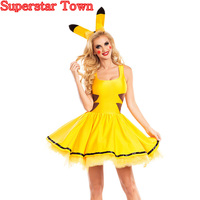 Pikachu Bee Costume Cosplay For Women Animal Pikachu Cosplay Bee Angel Garment Halloween Superstar Town