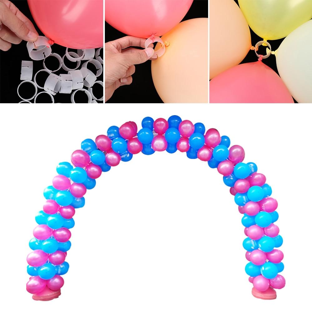 50pcs Arch Balloon Buckle Connectors DIY Christmas Wedding Ballon Clips UK