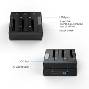 Image 3 - ORICO 3 خليج USB 3.0 HDD قاعدة لتثبيت الكمبيوتر المحمول ل 2.5 3.5 بوصة SATA القرص الصلب HDD دعم استنساخ مع 12V5A قوة داعم محول 18 تيرا بايت