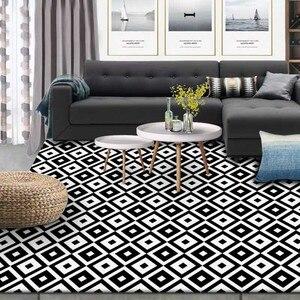 Image 3 - Nórdico INS moda geométrica simples esteiras casa de cabeceira quarto entrada elevador tapete sofá mesa de café tapete anti derrapante