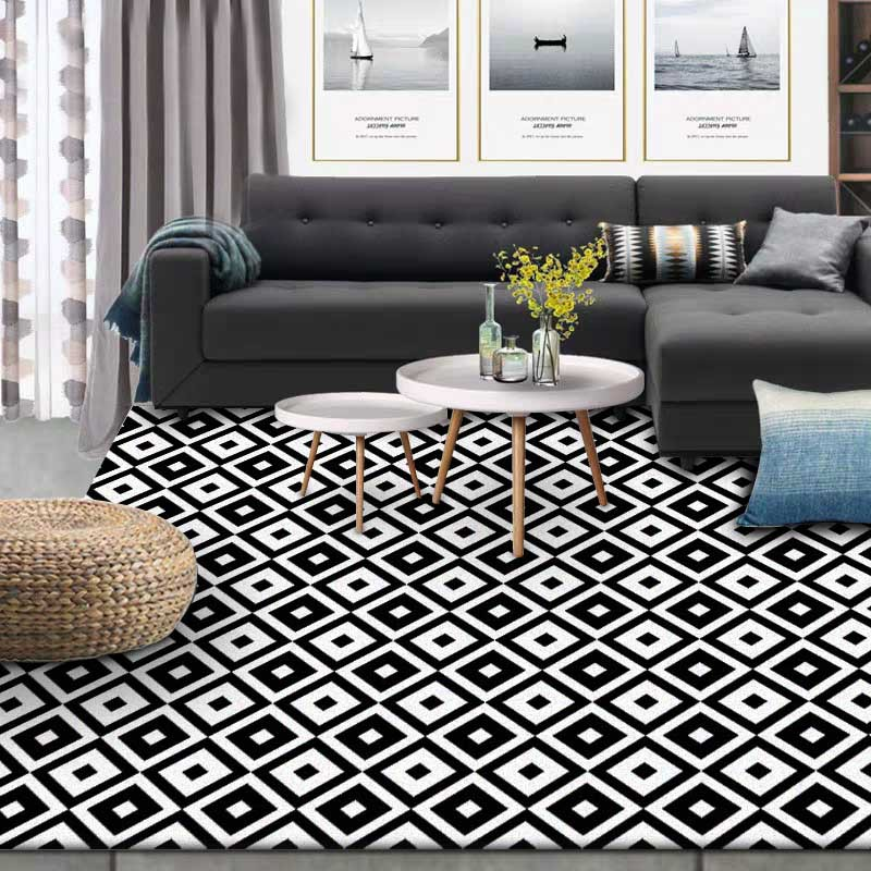 Image 3 - Nordic INS fashion simple geometric mats home bedroom bedside entrance elevator floor mat sofa coffee table anti slip carpet-in Carpet from Home & Garden