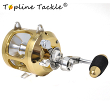 цена на 2018 New CNC Full Metal reel 2 speed reels jigging reel H30W ,H30WL boat fishing trolling reels