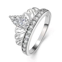 9694edced50a Ariel anillos para las mujeres moda corona zirconia marca color rosa de oro plata  compromiso amor regalo Anel anillos bague joye.