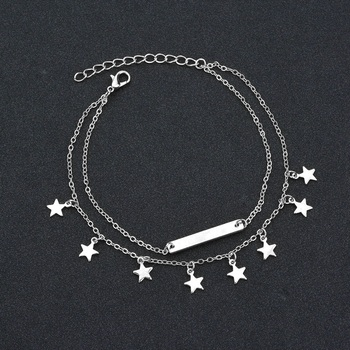 MissCyCy Boho Style Star Anklet Fashion Multilayer Foot Chain Ankle Bracelet 3