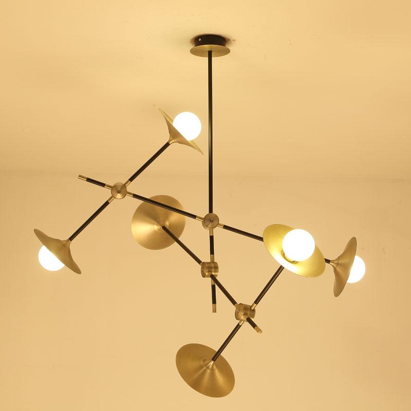 Modern Glass LED Pendant Light Speaker Style Dining Room Kitchen Designer Hanging Lamps Avize Suspension Luminaire in Pendant Lights from Lights Lighting