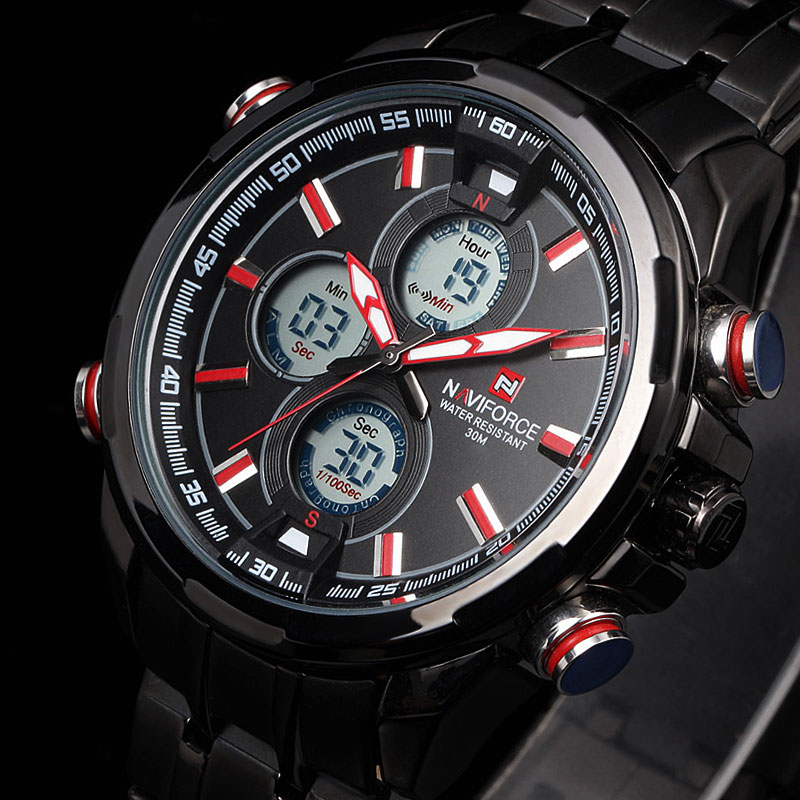 New Luxury Brand LED Digital Watches Men Quartz Hour Clock Fashion Sports Full Steel Man Military Wrist Watch Relogio Masculino luxury brand men military sports watches for men s quartz led digital hour clock male full steel wrist watch relogio masculino