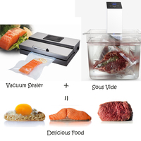 ITOP 2PCS/SET VACUUM SEALER +SOUS VIDE Kitchen Food Processors