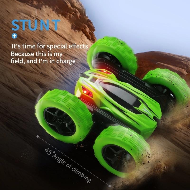 2019 New Arrival JJRC 1:24 Stunt Twist Arm RC Racing Car Rotatable Flashing 3D Flip Truck W/Light VS Gifts for Kids