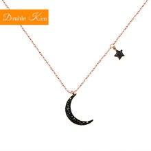 Черный с рисунком «Луна» «звезды кулон ожерелье титановая инкрустация