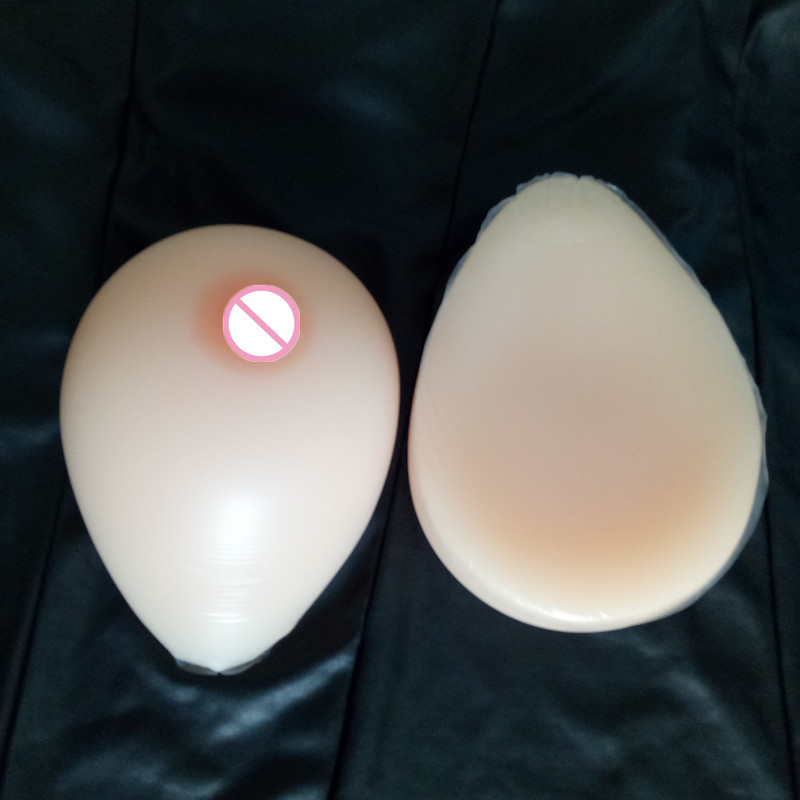 Sz Huge  3200g/pair Silicone Crossdressing Fake Boobs Tear Drop Shape Shemale User