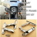 Auxiliary Lighting Brackets Kit Harley Street Glide Chrome Frame Parts 06-13