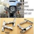 Soportes de Iluminación auxiliar Kit de Harley Street Glide Chrome Frame de Piezas 06-13