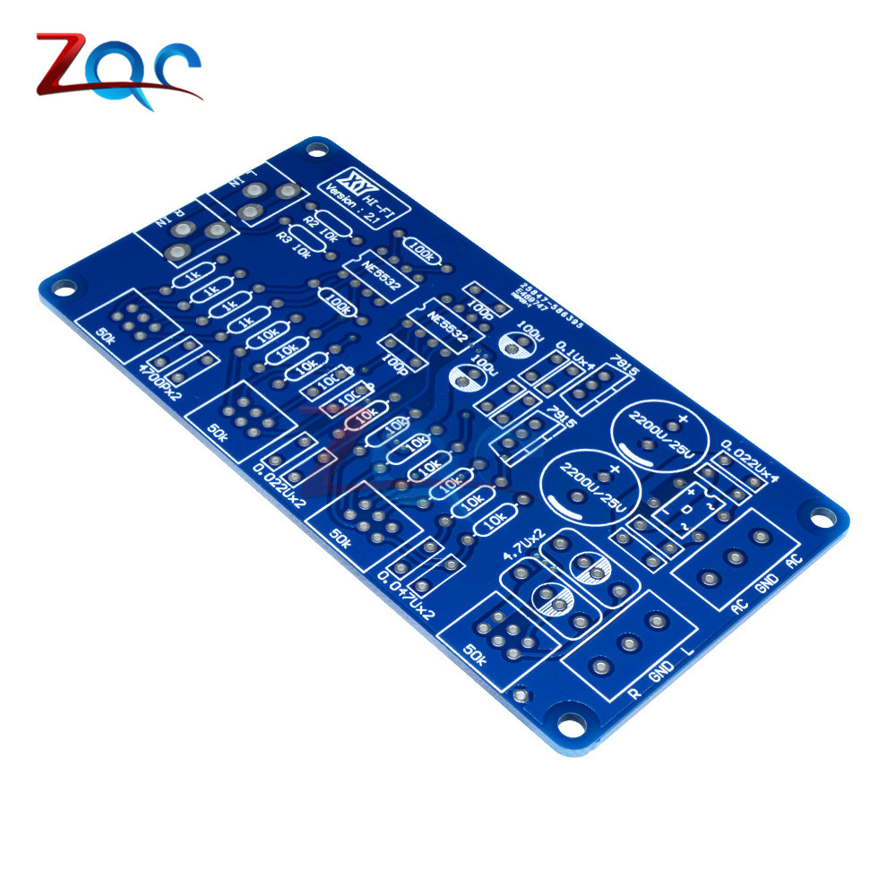 Image 5 - NE5532 Volume Control Audio Power Amplifier PCB Board / DIY Kit Electronic PCB Board Module-in Instrument Parts & Accessories from Tools