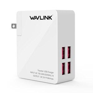 Image 4 - Wavlink Universal 2/4 Port Traveler adapter ładowarki usb 40w DC 5V 8A z przenośną wymienną wtyczką EU/US/AU/UK do telefonu komórkowego