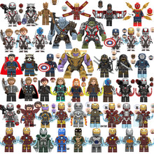 Marvel Avengers 4 superhéroes Legoings juego final iron man Capitán América Spider war Thanos Hulk bloques de construcción figuras Juguetes(China)