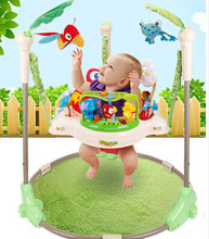 Baby walkers bounce swing chair up and down, the infant child machines