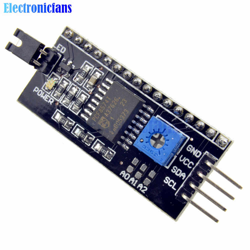 IIC/I2C Interface LCD1602 carte adaptateur 5V LCD adaptateur convertisseur Module pour LCD1602 2004 LCD